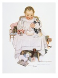 Illustration of a Baby by S.D. Runyon Giclee Print