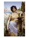 Ionian Dancing Girl Impresso gicle por John William Godward