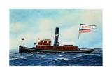Tug Boat Giclee Print by Antonio Jacobsen