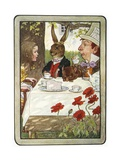 Book Illustration of a Mad Tea-Party Giclee Print by M.L. Kirk