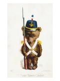 """A Bear Town Cadet."" Giclee Print by Rose Clark"