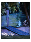 Bathers Preparing to Dive Giclee Print by Gustave Caillebotte