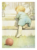 The Toddling Baby Boy Giclee Print by Jessie Willcox-Smith