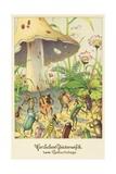 Herzlichen Gluckwunsch Zum Geburtstage Postcard Giclee Print