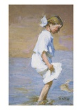 Wading at the Shore Giclee Print by Edward Henry Potthast
