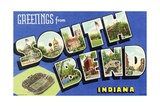 Greeting Card from South Bend, Indiana Giclee Print