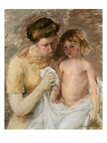 Jules Being Dried After His Bath Giclee Print by Mary Cassatt