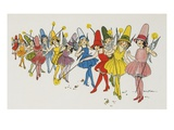 Book Illustration Depicting Fairies by Eulalie Giclee Print