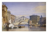 The Rialto from the Grand Canal Giclee Print by Willam Callow