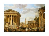 Capricci of Classical Ruins with the Arch of Septimus Severus Giclee Print