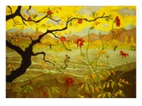 Apfelbaum mit roten Fr&#252;chten Gicl&#233;e-Druck von Paul Ranson