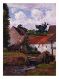 Farm at Osny Stampa giclée di Paul Gauguin