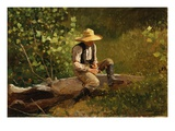 The Whittling Boy Giclee Print by Winslow Homer
