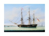 Sloop on the Mersey Giclee Print by Robert Salmon