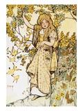 Jackieboy in Rainbowland Giclee Print by Fanny Cory