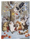 Christmas in the Woods Impressão giclée por Philip Vinton Hopkins