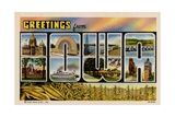 Greetings from Iowa Postcard Giclee Print
