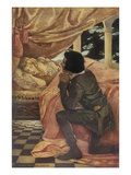 Illustration of Sleeping Beauty and the Prince by Jessie Willcox Smith Giclee Print