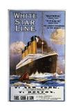 Titanic, Olympic, White Star Line Wydruk giclee autor Montague B. Black