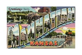 Greeting Card from Manhattan, Kansas Giclée-Druck