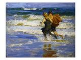 A la plage Reproduction procédé giclée par Edward Henry Potthast