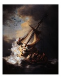 Storm on the Sea of Galilee Giclée-tryk af Rembrandt van Rijn