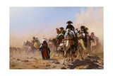 Napoleon and His General Staff in Egypt Giclee Print by Jean Leon Gerome