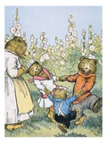 Playdays on Plum Blossom Creek Giclee Print by Warner Carr