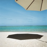 Shadow of Umbrella on the Beach Photographic Print