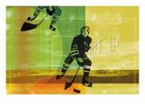 Colorful hockey Giclée-Druck
