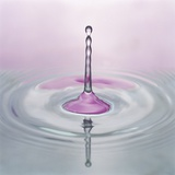 Water Droplet and Ripples Photographic Print