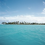 Shallow Water Near Tropical Island Photographic Print