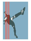 Soccer player Giclee Print