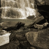 Outcrops and Waterfall Photographic Print