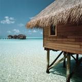 Cabana Raised Above the Ocean Photographic Print