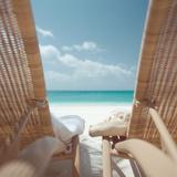 Beach Chairs on a Beach Photographic Print
