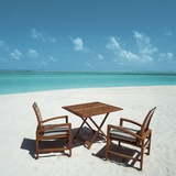 Chairs and Table at a Beach Photographic Print
