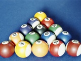 Balls on a Pool Table Papier Photo
