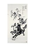 Eight Horses Impression giclée par Guozen Wei