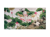 On Lotus Pond Lámina giclée por Hsi-Tsun Chang