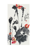 Lotuses in Autumn Giclee Print by Deng Jiafu