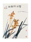 Orchids in Spring Breeze Giclee Print by Deng Jiafu