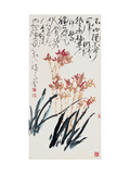 Orchids - Elegant and Independent Giclee Print by Deng Jiafu