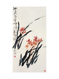 Orchids Giclee Print by Deng Jiafu