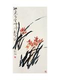 Orkidéer Gicléetryck av Deng Jiafu