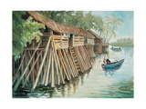 Fishermen's Houses Reproduction procédé giclée par Chuankuei Hung