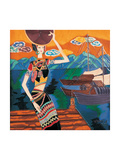Woman at The Wharf Giclee Print by Yenhuei Hsu