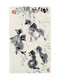 Chicks in Spring Giclee Print by Deng Jiafu