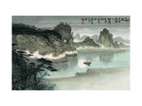Poetic Li River No. 18 Giclee Print by Zishen Zhang