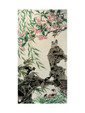 Four Birds in Spring Giclee Print by Hsi-Tsun Chang